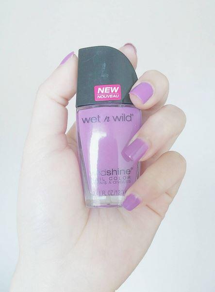 Wet N' Wild Purple Nail Polish