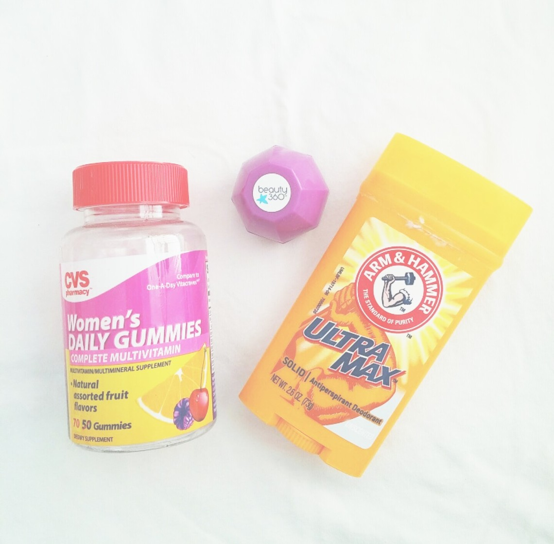 Arm & Hammer Antiperspirant and Beauty360 Lip Balm