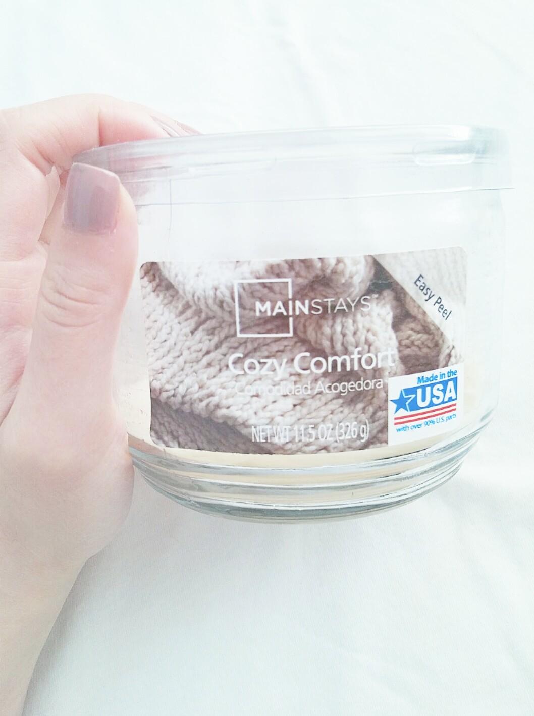 Walmart Mainstay Cozy Comfort Candle