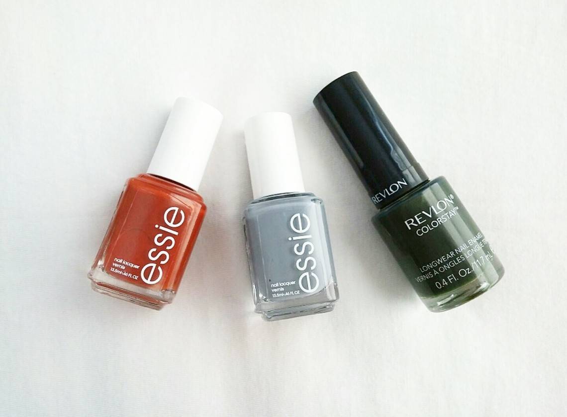 Fall Nail Colors: Essie Playing Koi, Essie Pushing Petals & Revlon ...