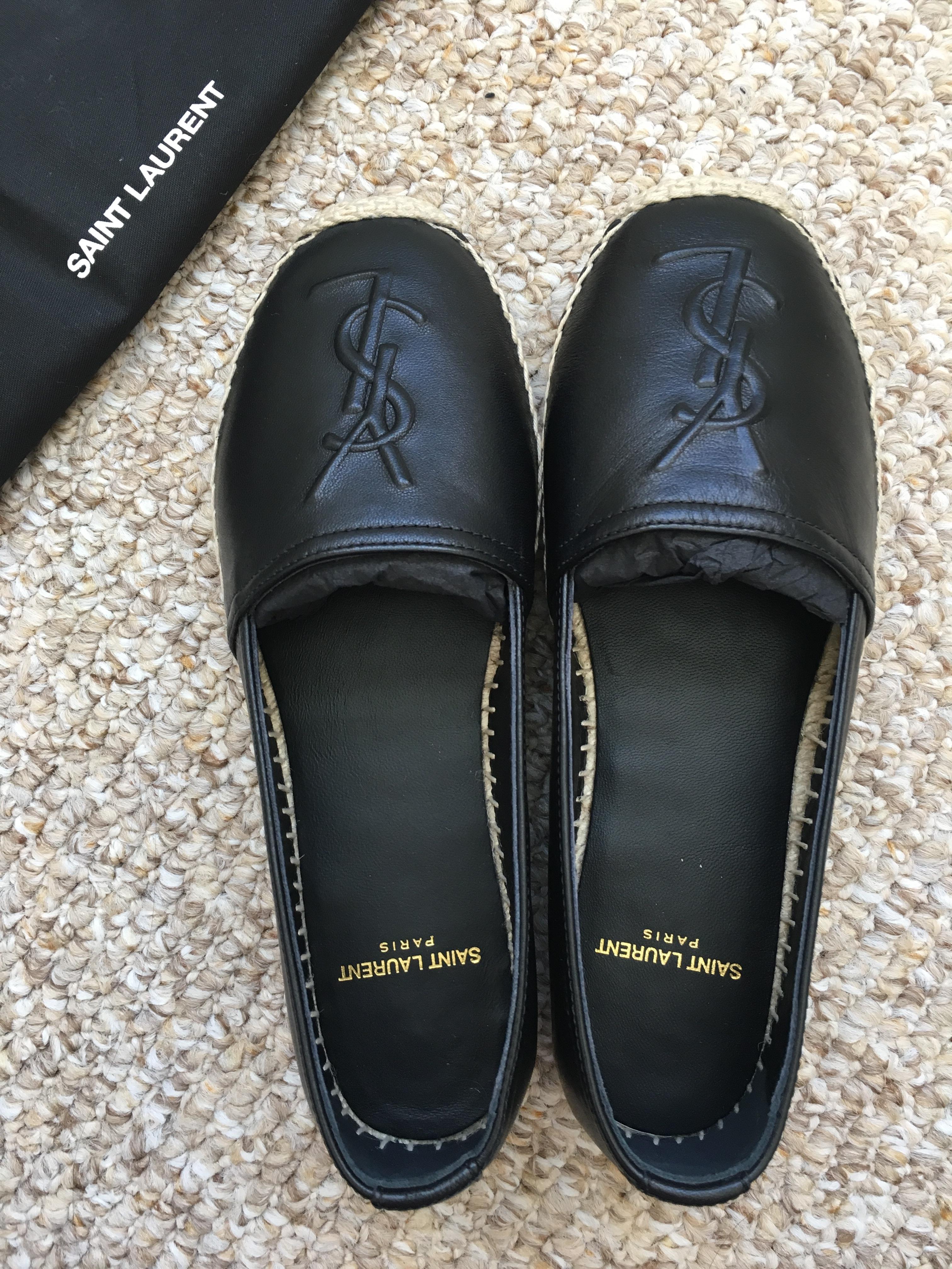 YSL Espadrilles in Black Leather